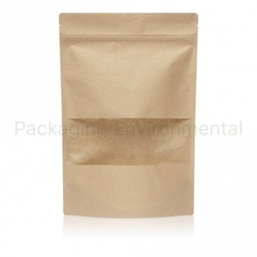 Stand Up Pouch With Zip Lock & Window - 1kg