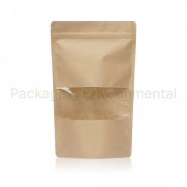 Stand Up Pouch With Zip Lock & Window - 250g