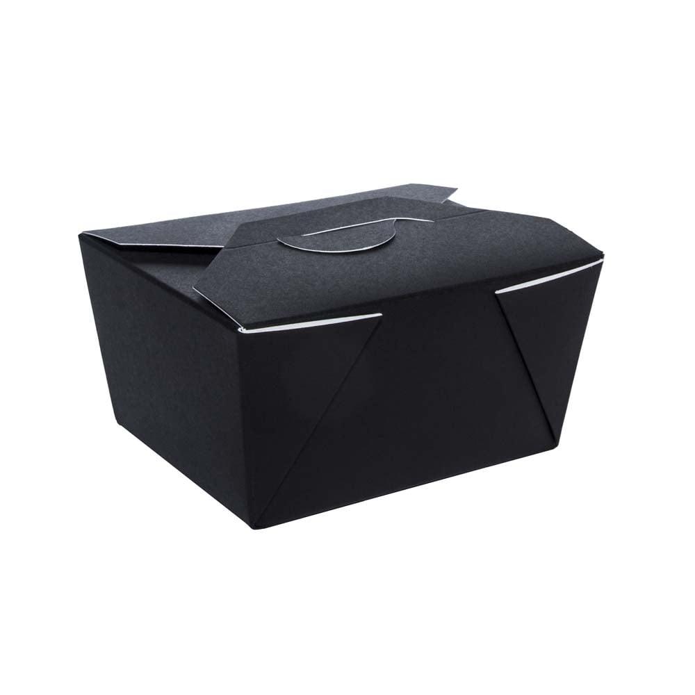 A On Box : Takeaway box black packaging environmental