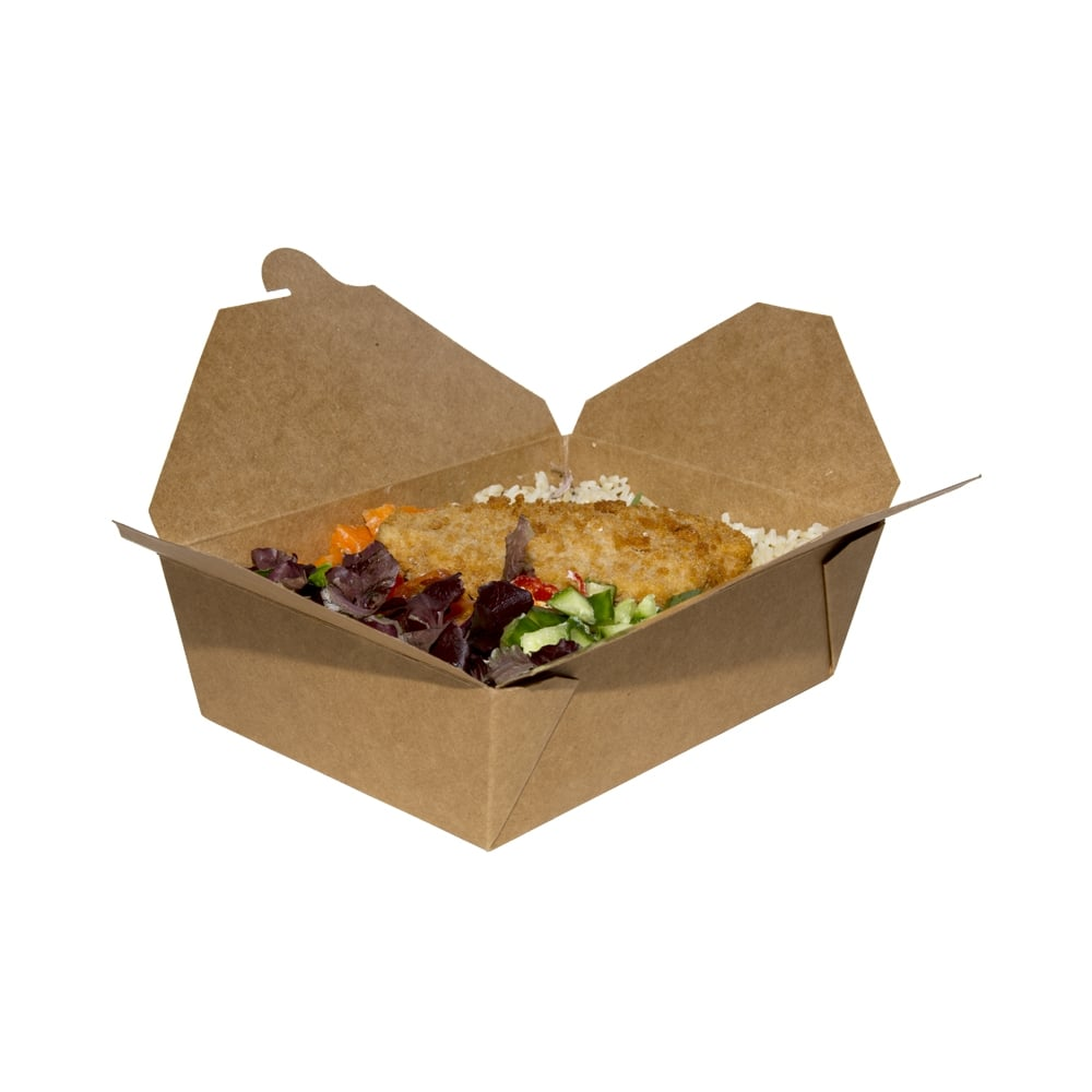 Takeaway box brown 3 packaging environmental for Decor 720 container