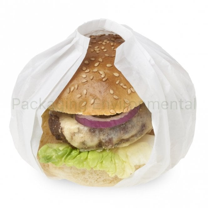 White Burger Wrap ('Pleatpak')