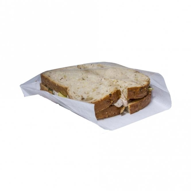 White Film Front Sandwich Bag