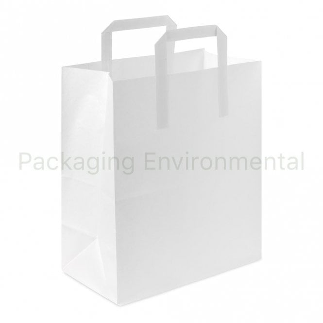 White Paper Carrier Bag