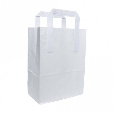 White Paper Carrier Bag - Small