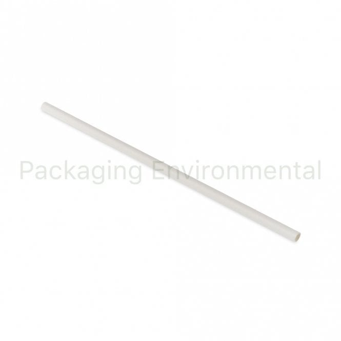 White Paper Straw - 200mm x 6mm