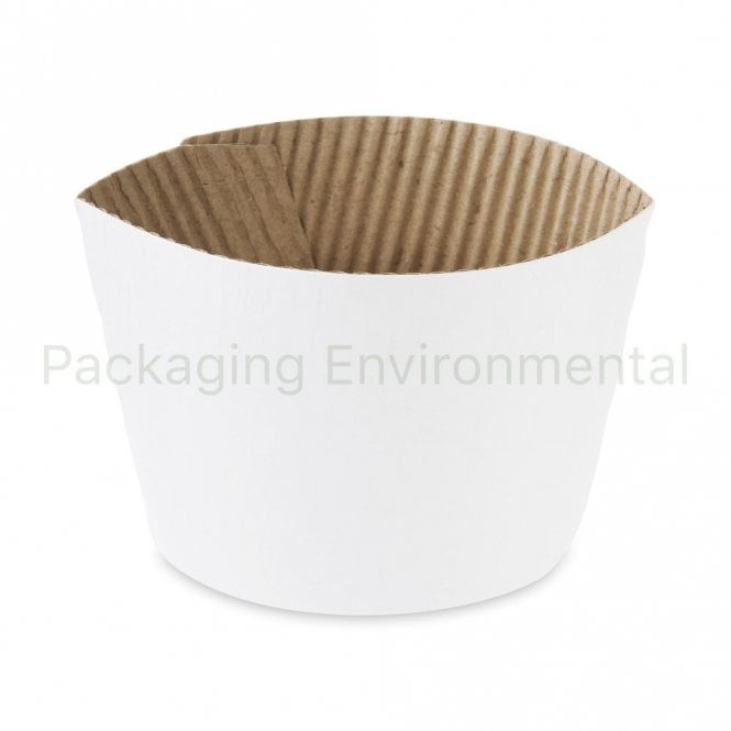 White Sleeve for 8oz Paper Cups