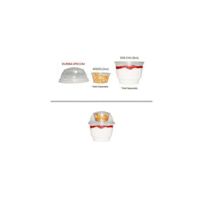 Yoghurt Pot Lid - For 8-12oz Yoghurt Pots